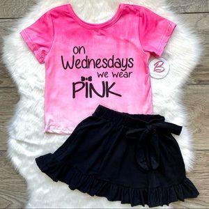 Girl Boutique Pink & Black Skirt Set